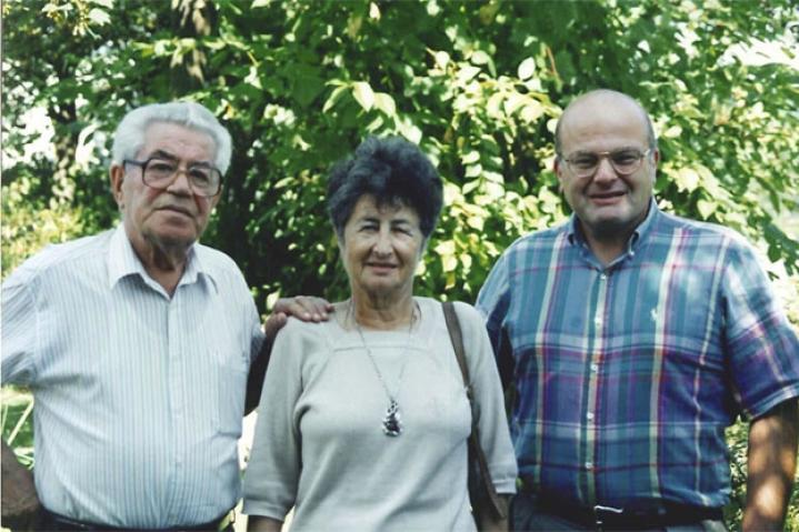 Moshe Bejski con la moglie Erica e Marc Fermont