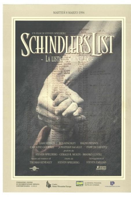 La locandina italiana del film Schindler's List