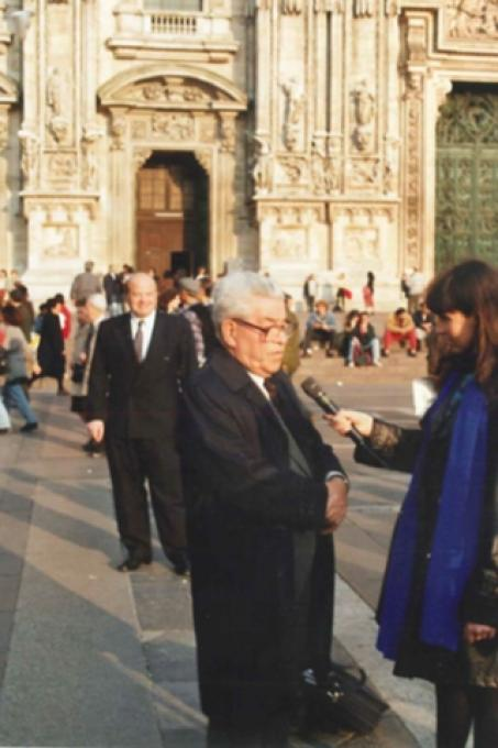 Bejski viene intervistato per la prima italiana di Schindler'List avvenuta l'8 marzo 1994