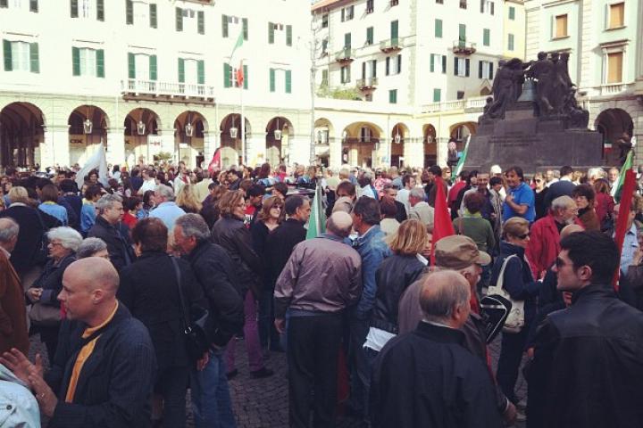La solidarietà di Savona (Foto di Robertamilano)