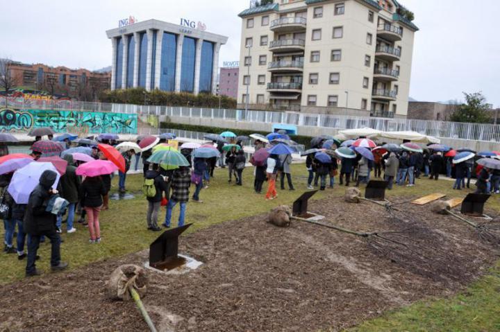 Gli studenti bresciani presenti all'inaugurazione
