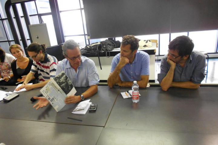da destra gli architetti Lorenzo Consalez, Alessandro Rocca e Antonio Perazzi