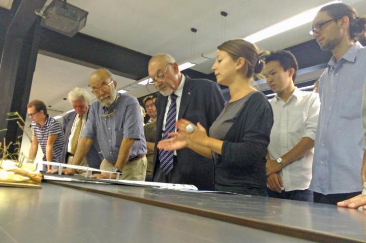 da destra Pietro Kuciukian, Console Onorario d'Armenia in Italia, l'architetto Stefano Valabrega e il prof. Raffaello Cecchi