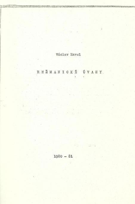 Testo di Vaclav Havel che veniva fatto circolare clandestinamente