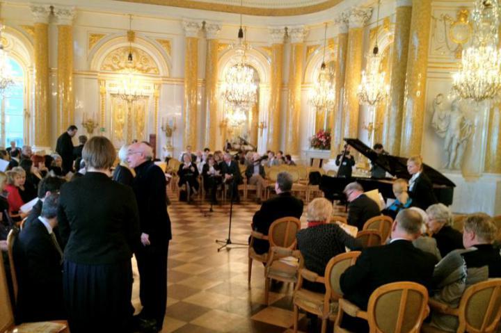 La sala da Ballo del Castello reale, sede del concerto