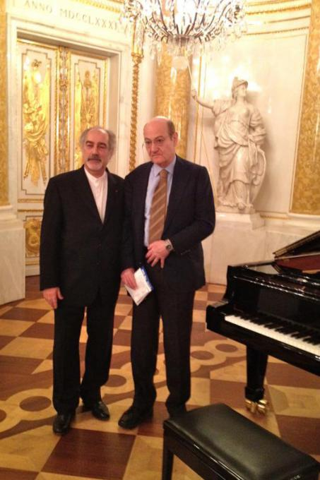 Il pianista Gaetano Liguori e Gabriele Nissim