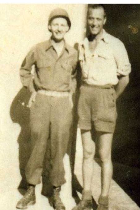1945, Valletti con il Comandante americano