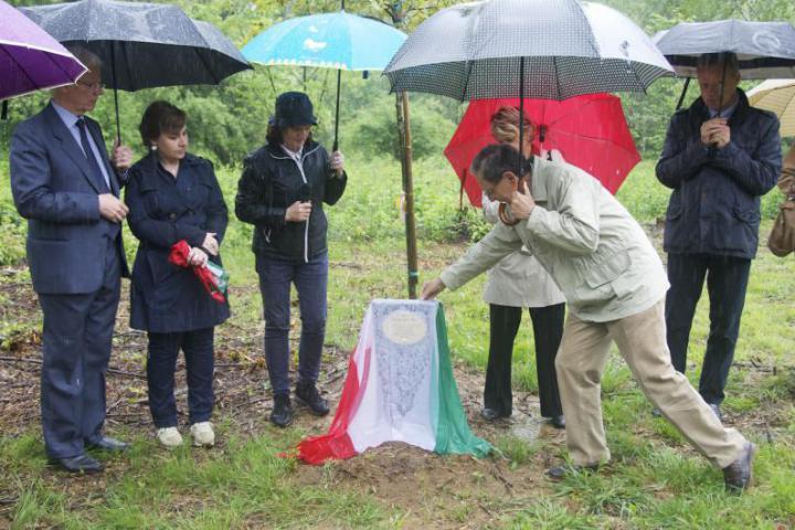 Scoprimento del cippo dedicato alle vittime delle foibe