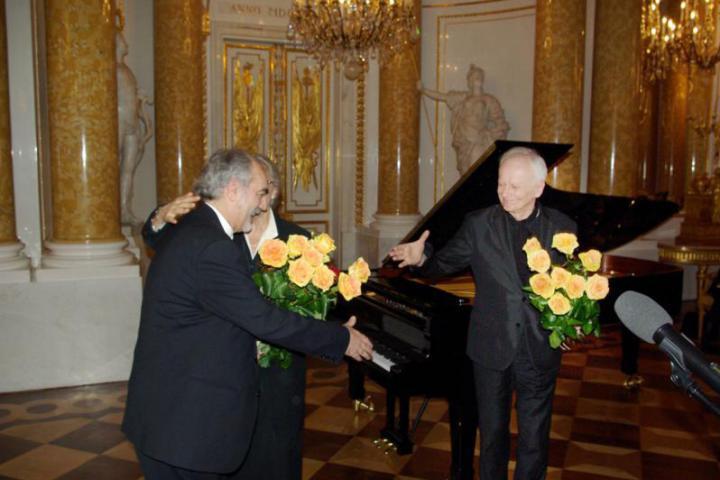 I pianisti Gaetano Liguori e Janusz Olejniczak (Foto di Henryk Pietkiewi)