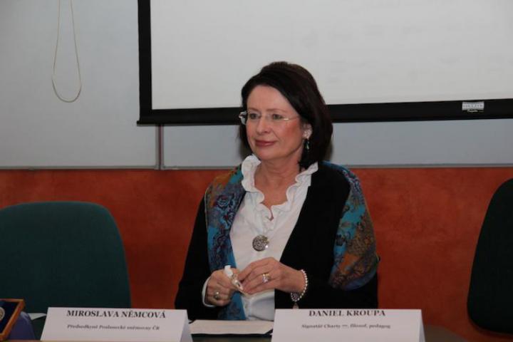 Miroslava Němcová, Presidente della Camera dei Deputati della Repubblica Ceca, Praga