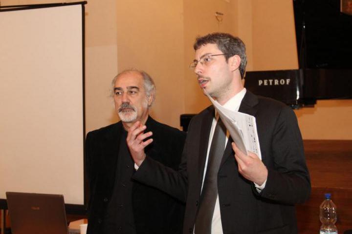 Andreas Pieralli con il Maestro Gaetano Liguori