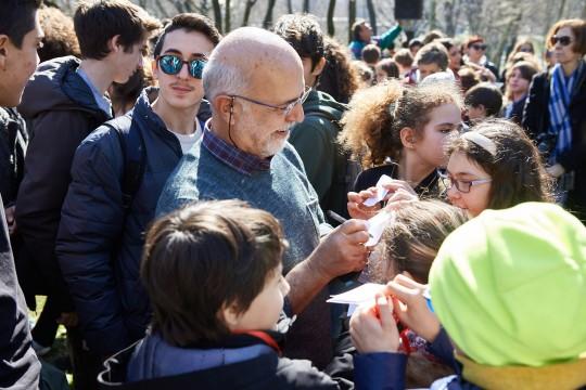 Iannis Troumpounis, marito di Daphne e aiuto importante per lei nell'accoglienza ai migranti a Lesbo
