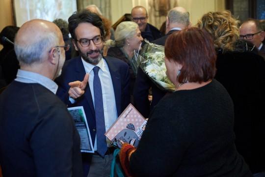 Lamberto Bertolé con Daphne Vloumidi e Iannis Troumpounis