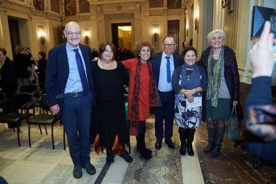 I Giusti Daphne Vloumidi e Costantino Baratta con il Presidente Gabriele Nissim