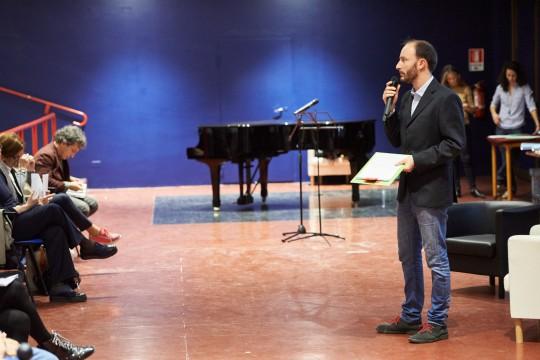 Il presentatore Enrico Pittalunga