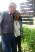 Il Professore della Open University di Israele Yair Auron insieme a la Giusta Alganesh Fessaha