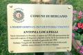 una targa per Antonia Locatelli al Giardino di Bergamo