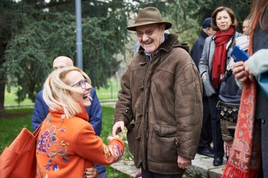 Gabriele Nissim, presidente di Gariwo, con Anna Ziarkowska, responsabile educazione della Casa degli incontri con la Storia di Varsavia