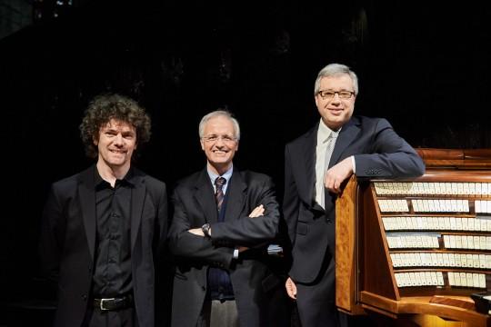 Gli organisti Roberto Olzer, Emanuele Carlo Vianelli e Alessandro La Ciacera