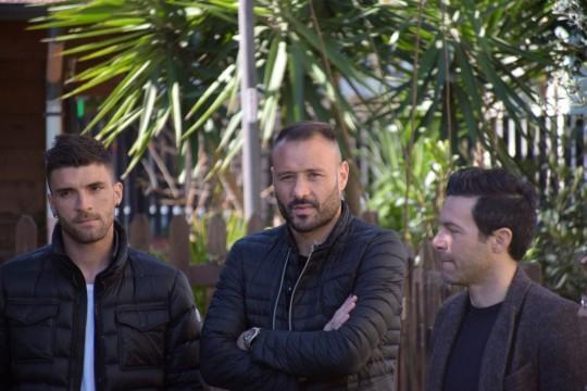 Una rappresentanza di calciatori del Pescara Calcio