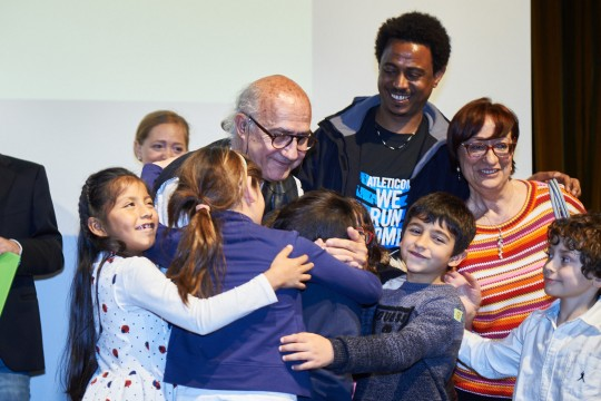 L'abbraccio con Vito Fiorino