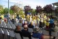 La cerimonia di inaugurazione nel parco di Bellaria-Igea Marina, 25 aprile 2004.
