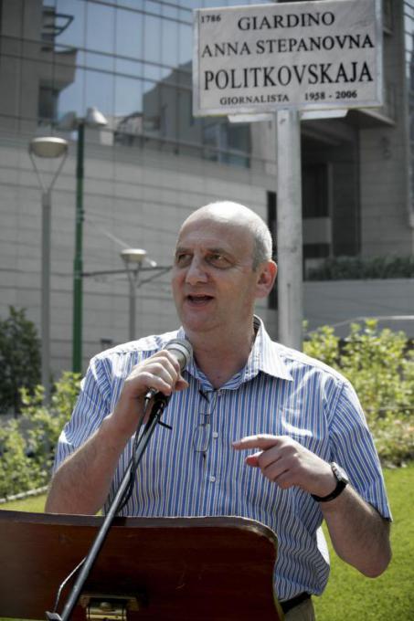 Vitalij Jaroshevskij, vice direttore del giornale Novaja Gazeta