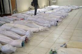 I corpi dei bambini uccisi a Houla (Foto di Syria Freedom)