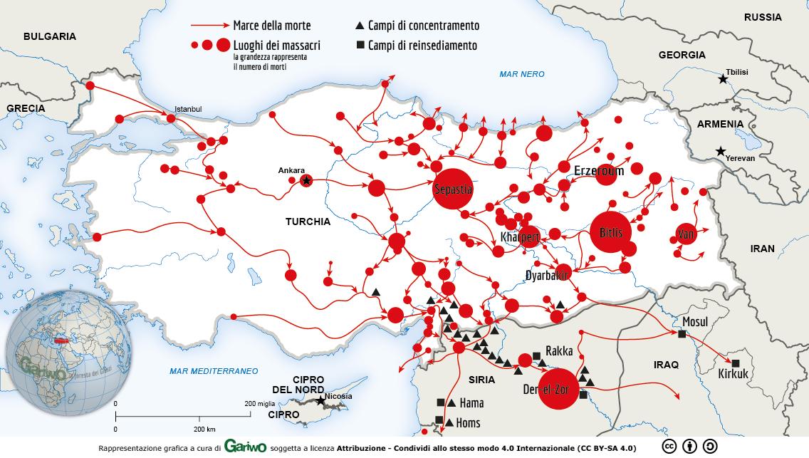 Genocidio Armeno - nei territori dell'Impero ottomano si