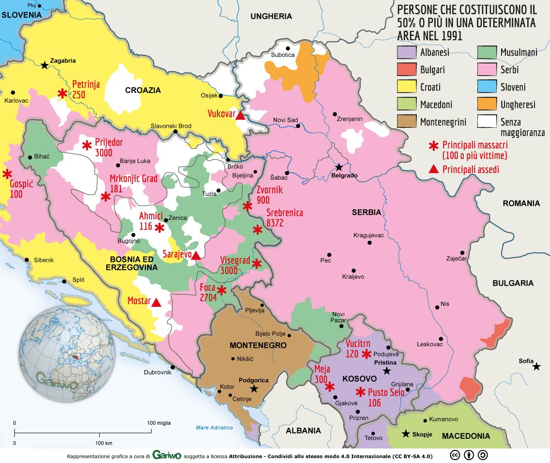 Cartina Della Slovenia E Croazia.Pulizia Etnica E Genocidio Nei Balcani Lo Sterminio Durante La Guerra Civile Scoppiata Nella Ex Jugoslavia Approfondimento