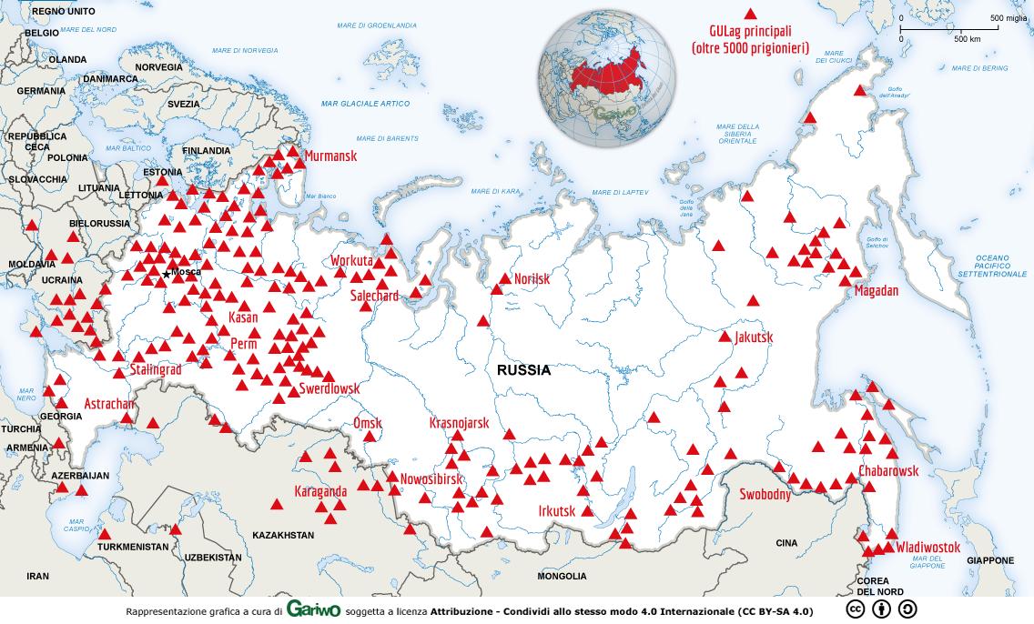 Cartina Urss.Gulag I Campi Di Concentramento Creati E Gestiti Dal Regime Sovietico Dal 1918 Al 1987 Approfondimento