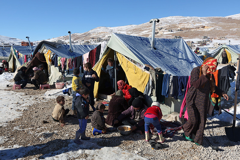 Rifugiati siriani in Libano.
