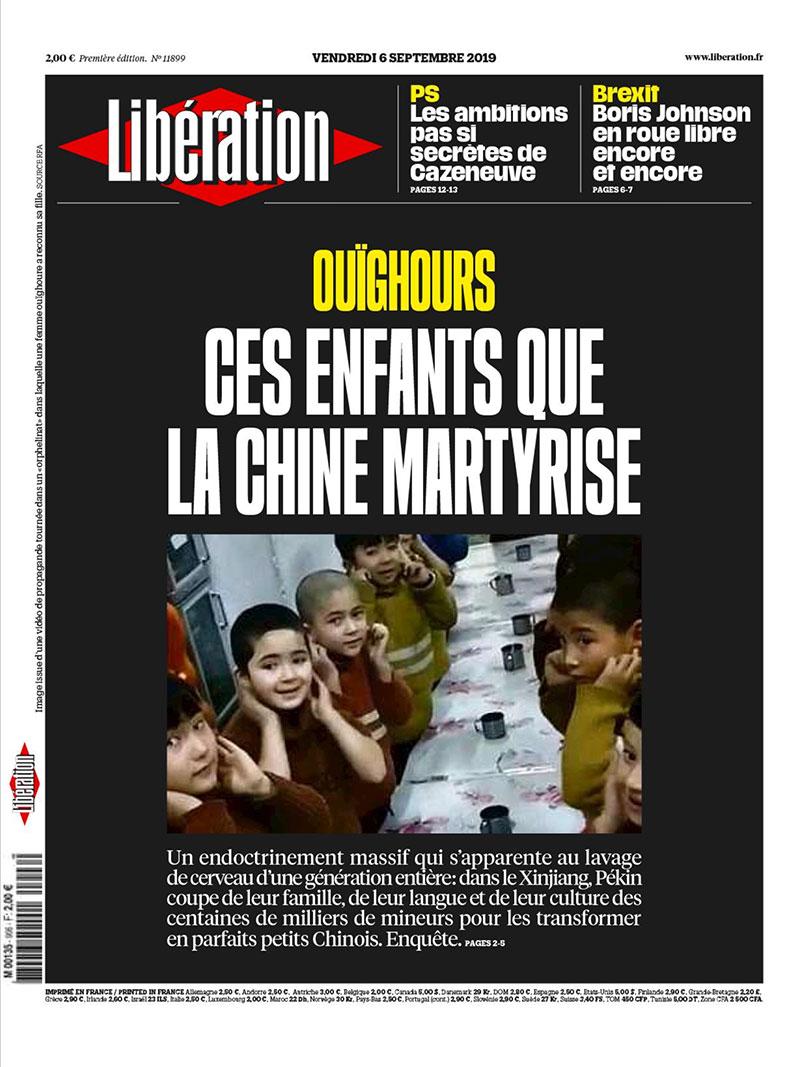 Libération, 6 settembre 2019