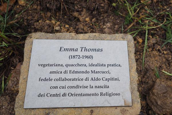 a Perugia una targa per Emma Thomas
