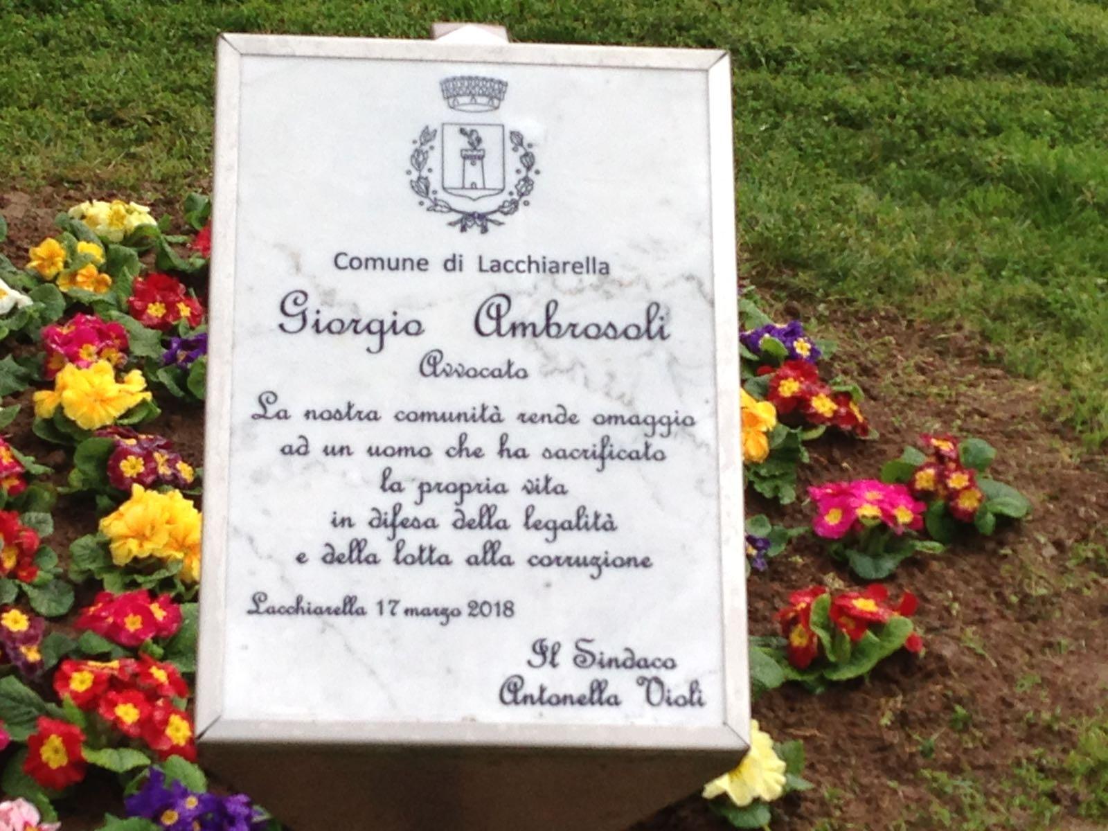 Giorgio Ambrosoli onorato a Lacchiarella