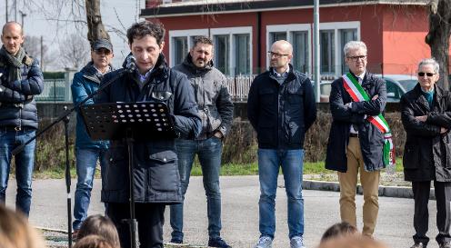 A Calvisano con Ruggero Bresciani, Presidente del comitato di Calvisano
