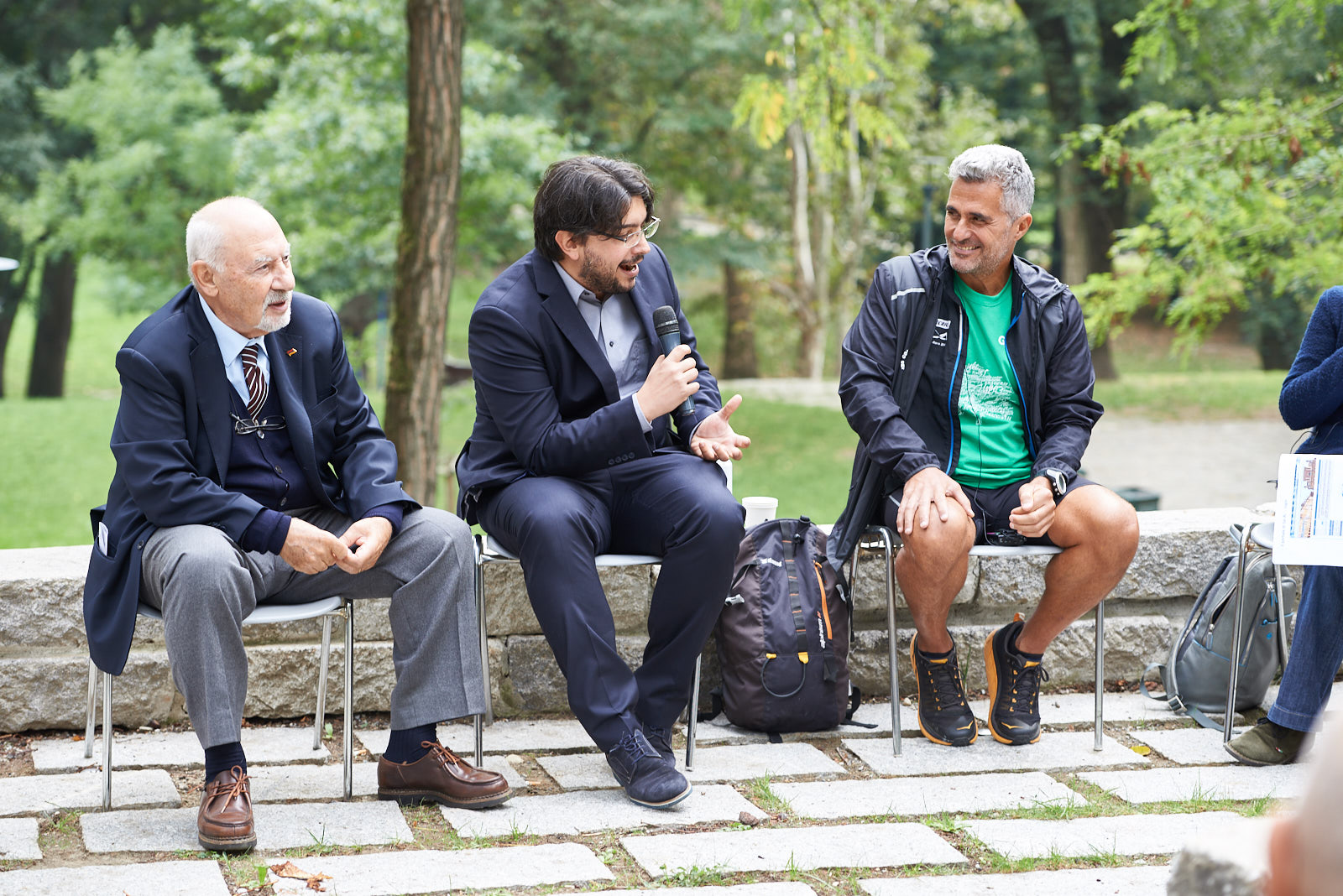 Pietro Kuciukian, Console onorario d'Armenia in Italia e co-fondatore di Gariwo, Simone Zoppellaro, giornalista, Ara Khatchadourian, runner per la pace