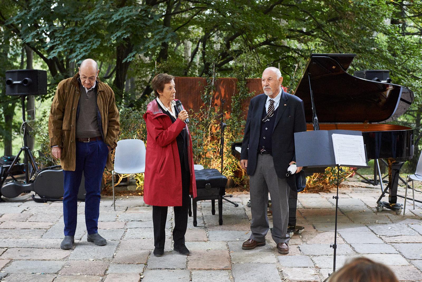 I fondatori di Gariwo Gabriele Nissim, Pietro Kuciukian e Anna Maria Samuelli